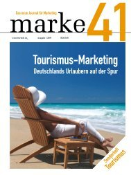 Tourismus-Marketing - marke41