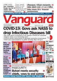15052020 - COVID-19: Govs ask NASS to drop Infectious Diseases bill