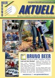 AKTUELL Ausgabe HERBST und WINTER 2011 - Bruno Beer GmbH