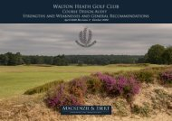 Walton Heath General Recommendations Report 2020-04