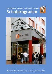 Schulprogramm 2006 als Download - OSZ Lotis Berlin