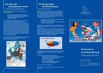 EU-Fördermittel für Brandenburg - Brandenburg, Europa und die ...