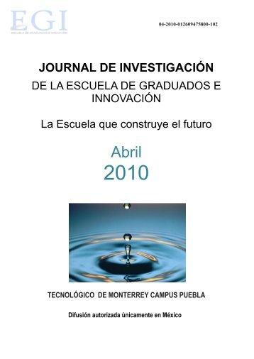 journal de investigación - Campus Puebla - Tecnológico de Monterrey
