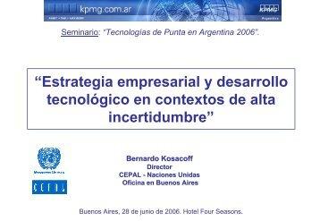 Estrategia empresarial y desarrollo tecnológico en contextos ... - Cepal