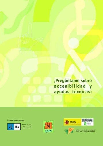 Guía «¡Pregúntame sobre accesibilidad y ayudas técnicas! - Imserso