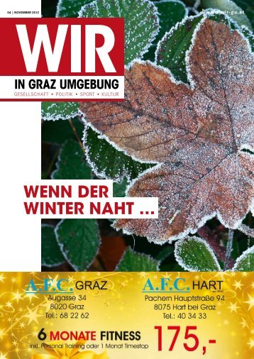 WENN DER WINTER NAHT … - WIR in Graz Umgebung