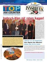 Innbruck-Wien mit rotem Kapperl - top am counter