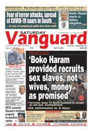 16052020 - Boko Haram -provided recruits sex slaves not wives money as promised