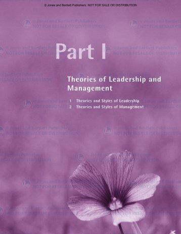 Theories and Styles of Management - Jones & Bartlett Learning