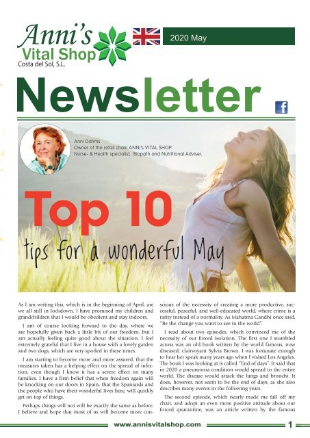 Top 10  tips for a wonderful May