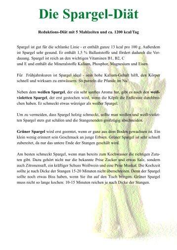 Die Spargel-Diät - Ratgeber Wellness und Gesundheit