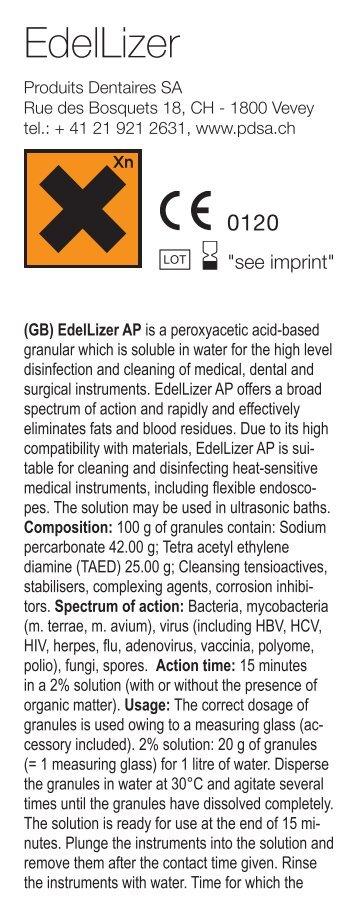 EdelLizer - Produits Dentaires S.A. Switzerland