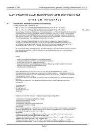 Studium Integrale - koost - Universität zu Köln