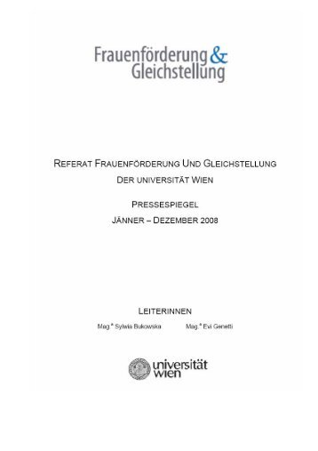 Pressespiegel 2008 Seite 0 - Personalwesen und Frauenförderung ...