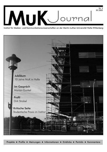 Jubiläum 10 Jahre MuK in Halle - Universitätsrechenzentrum, MLU ...