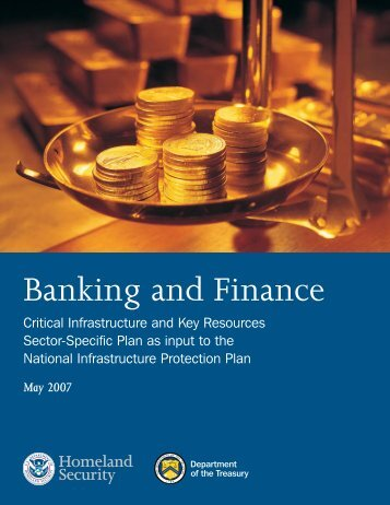 Banking and Finance Sector-Specific Plan - U.S. Department of ...