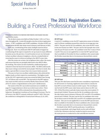 The 2011 Registration Exam - Association of BC Forest Professionals