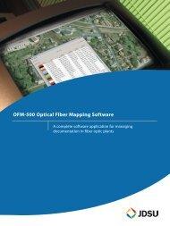 OFM-500 Optical Fiber Mapping Software brochure