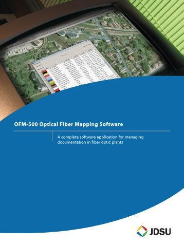OFM-500 Optical Fiber Mapping Software brochure