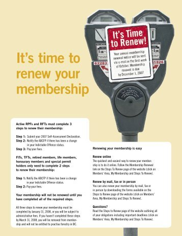 It's time to renew your membership - Association of BC Forest ...
