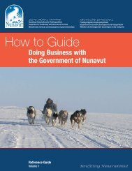 Doing Business with the Government of Nunavut - Gouvernement du ...