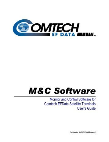 M&C Software - Comtech EF Data