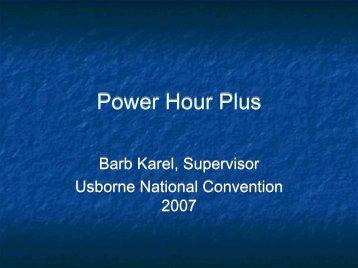 Power Hour Plus - Premier Training Website for Usborne Achievers