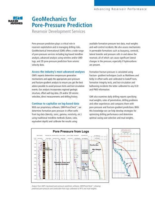 GeoMechanics for Pore-Pressure Prediction