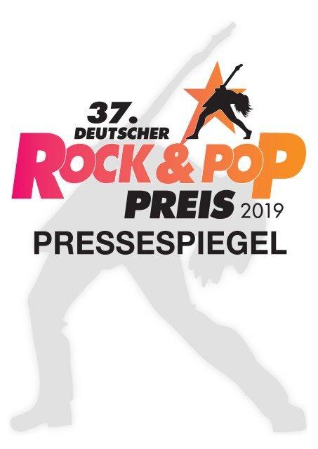 37.  Deutscher Rock & Pop Preis 2019 – Pressedokumentation