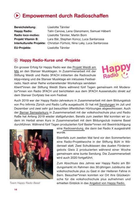 Jahresbericht 2019 - Radioschule klipp+klang
