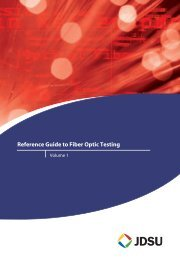 Reference Guide to Fiber Optic Testing - TMG Test Equipment