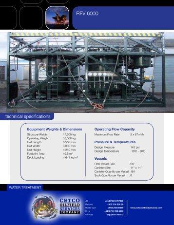 CrudeSorb RFV 6000 Max Flow Rate 134m3-h - CETCO Oilfield ...