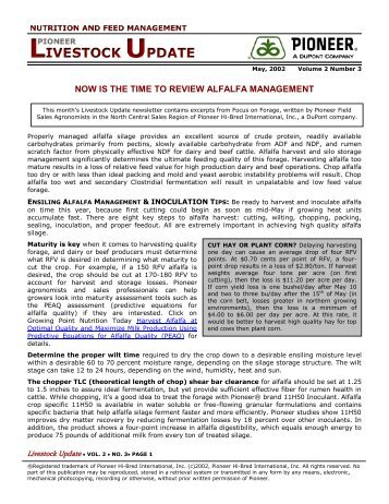 Now is the Time to Review Alfalfa Management - Pioneer