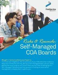 Risks and Rewards: Self Managed COA Boards