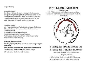 RFV Edertal Allendorf Zeiteinteilung - Voltigieren in Hessen