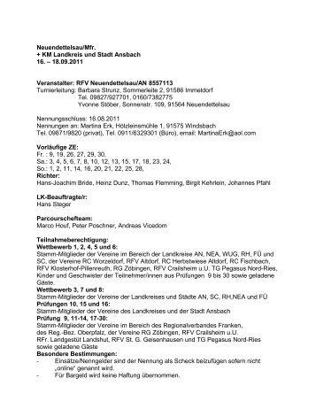 18.09.2011 Veranstalter: RFV Neuendettelsau/AN 8557113 ...