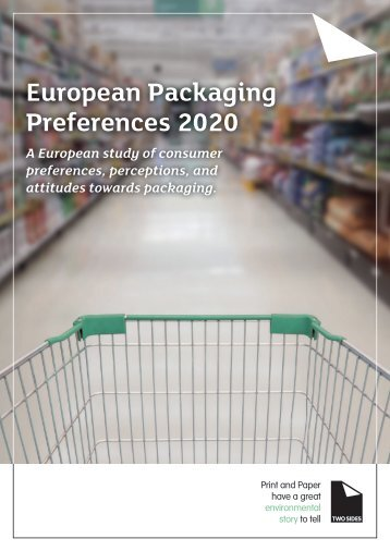 European Packaging Preferences Survey by Two Sides - March 2020
