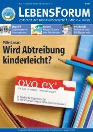ALfA e.V. Magazin – LebensForum | 92 4/2009