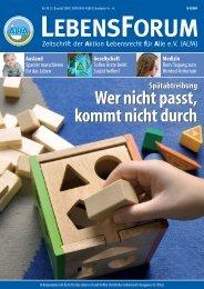 ALfA e.V. Magazin – LebensForum | 90 2/2009