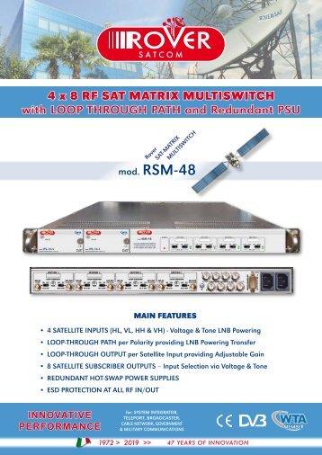 4 X 8 RF SAT MATRIX MULTISWITCH