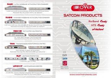 SATCOM PRODUCTS RANGE