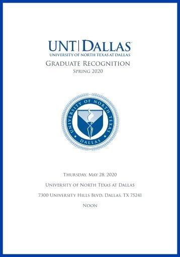 Spring 2020 Graduate Names