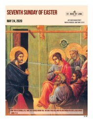 Seventh Sunday of Easter