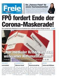 FPÖ fordert Ende der Corona-Maskerade!