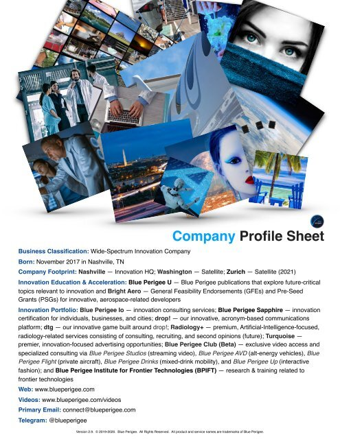 Company Profile Sheet