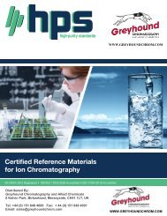 High Purity Standards (HPS) Ion Chromatography Reference Standards