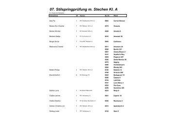 07. Stilspringprüfung m. Stechen Kl. A