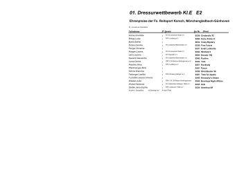 01. Dressurwettbewerb Kl.E E2 - Reiterverein St. Johannes Waat e.V.