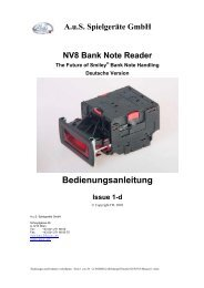 NV8 Bank Note Reader The Future of Smiley® Bank Note Handling