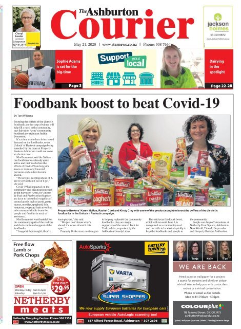 Ashburton Courier: May 21, 2020